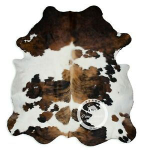 Cowhide Rug - Tricolor High Quality Hair on Hide Size: Large (L) K149