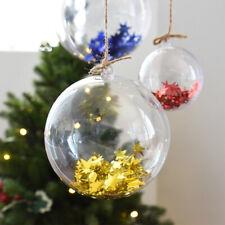 10Pcs bolas de plástico transparente Navidad Adorno Esfera Rellenable árbol de Navidad Ornamento de Estados Unidos