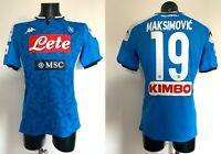Maksimovic Napoli maglia indossata v Sassuolo Serie A 2019 2020 match worn shirt