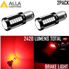 Alla Lighting 33-LED 1156 Super Bright Red Brake|Turn Signal Light Bulb Replace