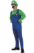 New Adult Luigi  Costume Fancy Party Halloween Dress Up Plumber