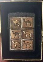 Vintage Zippo Lighter 1994 Camel The Herd 6 Pack Brass Emblem | Sealed h8