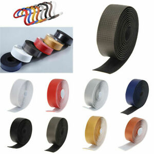 Carbon Fiber Bike Handlebar Tape Comfort GEL Road Wrap+2 Bar Belt Straps Supply