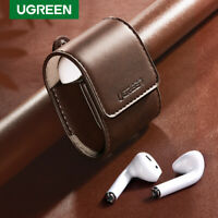 Ugreen Leather Case For Apple AirPods 2 1 Protect Earphones Cover Anti-lost Rope