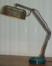 ORIGINALE fino riciclata Steam Punk Lampada da tavolo completamente restaurata UBA fresco industriale