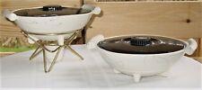 Vintage Mid-Century Shanee Kenwood #962 Pottery Chafing Dish & Serving Dish Reto