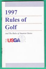 1997 USGA RULES OF GOLF BOOKLET        FREE SHIPPING IN THE USA