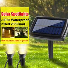 Waterproof LED Twin Solar Spotlight Light Sensor Outdoor Garden Lawn Lighting