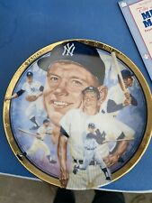 1992 Hamilton Collection MLB Collector Plate The Legendary Mickey Mantle#3025H