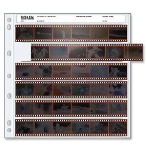 50 PRINT FILE 35mm 135 Negative Pages Sleeves Film Archival Preservers 35-6HB i