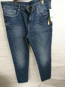 Mens H&m Blue Denim Jeans Size 34 Leg 31