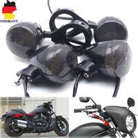 4x Motorrad Blinker E11 Blinklicht 39mm Gabel Fork Clamp Halter Für Harley Honda