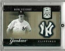 RON GUIDRY 2005 DONRUSS GREATS GAME USED PINSTRIPE JERSEY- YANKEES