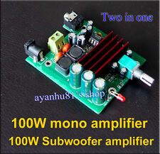12V 24V TPA3116D2 100W Mono Channel Subwoofer Digital Amplifier Board Amp F CAR