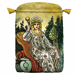 """NEW The Empress Tarot Bag 6x9"""" Radiant Wise Tarot Lined Satin Drawstring Pouch"""