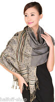 Fashion Women's Gray Cashmere Shawl Long Soft Wrap Lady Scarf Scarves