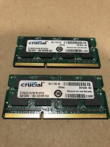 MAC Memory Crucial 8GB (2 x 4GB) DDR3 - 1066 SODIMM  (CT4G3S1067M.M16FKD) Laptop
