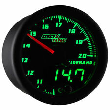 MaxTow Black & Green LED Double Vision Wideband Air/Fuel Ratio Gauge MT-DV02-WB