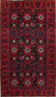 Vintage Floral Malayer Hamedan Persian Oriental Area Rug Wool Carpet 4'x7'
