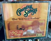 "Readers Digest ""Country Songs That Will Live Forever "" 4- CD Set 50 Years New"