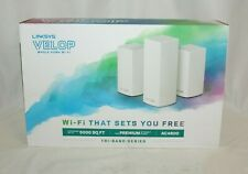 Linksys Velop AC4600 Intelligent Mesh WiFi System Tri-Band 3-Pack White