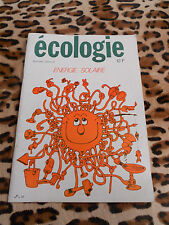 Ecologie n° spécial : Energie solaire - 1977