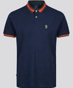 Luke Sport 1977 Str Ribbon Polo T Shirt Navy XL \ BN Authentic - UK Seller
