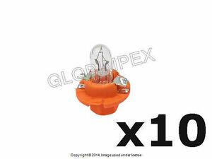Audi (89-05) Bulb Dashboard Instrument 12V-1.1W OEM (10) + 1 year Warranty