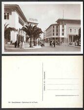 Old Morocco Real Photo Postcard - Casablanca - Carrefour de la Poste