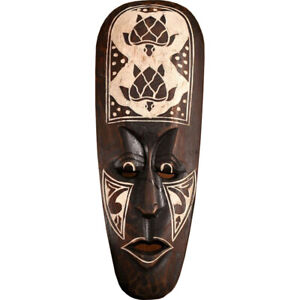 """African Mask Turtles Aboriginal Style Hand Painted Wooden Mask Wall Decor 20"""""""