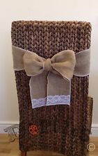 25 X Handmade Hessian And Lace Chair Bows