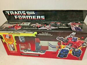 Original 1987 Hasbro Optimus Prime Transformers MIB Box
