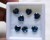 Lot of 10 p. AAA Natural London blue topaz 4 mm heart cut faceted loose gemstone