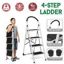Folding 4 /3 Step Ladder Non-slip Platform Stool Heavy Duty Tool  Anti-slip