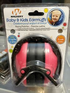 Walker hearing protection ear muffs Kids baby Pink