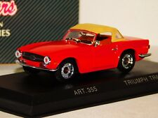 TRIUMPH TR6 1969 WITH SOFT TOP RED DETAIL CARS ART 355 1/43