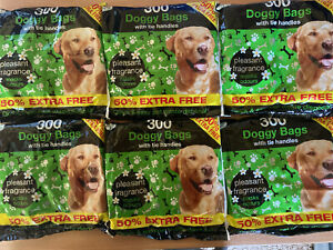 900 Doggy poo Bags With Tie Handles fast despatch dog bags Amazing Value