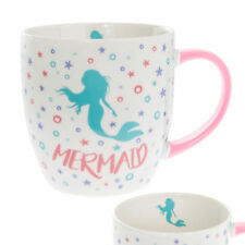 Blanco Taza de Porcelana Fina con Colorido Confeti y Mango - Sirena