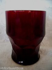 Collectible Vintage Ruby Red Glass Georgian Tumbler