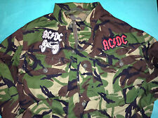AC:DC Army Camouflage Shirt Jacket For Those About To Rock Back in Black Salute