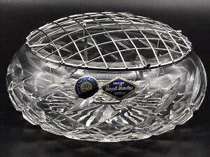 English Fine Cut Glass Crystal Rose Bowl Royal Brierley