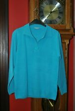 "Pull Polo mode""Blancheporte"" bleu turquoise Manches longues T38/40 comme NEUF!!"