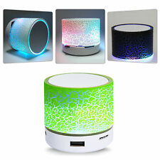 Fashion USB Subwoofer Loudspeakers LED Mini Wireless Portable Bluetooth Speaker