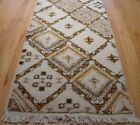 """MOROCCAN LONG RUNNER HAND KNOTTED IVORY NATURAL WOOL ORIENTAL RUG  2'10"""" x 18'"""