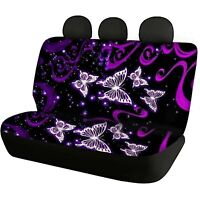 Car Rear Seat Covers Butterfly Thin Seat Protector Cover 2pcs Set Auto Accessory