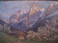 Vintage Original Oil Painting HUGO DARNAUT (1851-1937) LISTED Austrian Artist