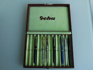 Geha Schulfüller mit Verkaufsbox Geha 2 x Kugelschreiber Demonstrator Laden