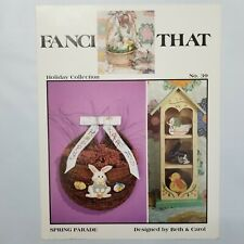 Fanci That Cross Stitch Pattern Spring Parade #39 Easter Eggs Bunny Chic Leaflet