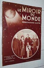 MIROIR DU MONDE #38 1930 FOURVIERE LYON HYDRAVION DO-X ABYSSINIE HAILE-SELASSIE