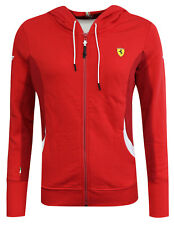 Puma X Ferrari Womens Luxury Hoodie Zip Up Sweatshirt Red Casual 761593 02 R12C